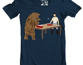 Bear Pong, Beer Pong, Bear, Lumberjack, Men's t shirt, Awesome Animal Shirts, Gift for him, Present for guys, Funny tees, S-3XL