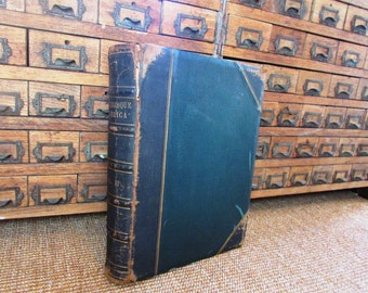 Leather Bound Picturesque America Vol II, Bryant, 1st Ed. 1874..Ten Pound Book..13 x 10