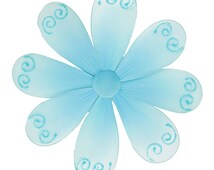 Nylon Flower Hanging Wall Decoration Blue Flowers Girl Baby Shower Birthday Party Fake Fabric Daisy Decor That Hangs From The Ceiling Swirls