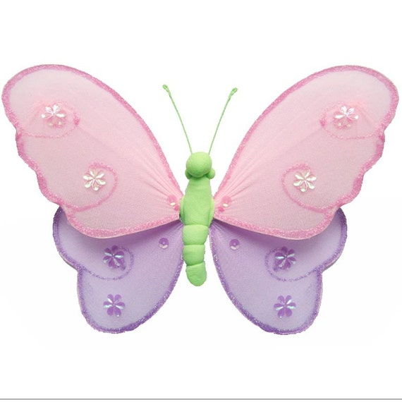 Butterfly baby shower decorations nylon hanging fake for Baby shower decoration butterfly