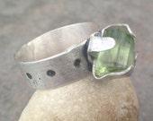 30% OFF - Raw Tourmaline Crystal Sterling Silver Ring - statement ring, bold ring, crystal ring, tourmaline ring, tourmaline jewelry, US Siz