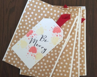 Be Merry boxed card set Christmas cards