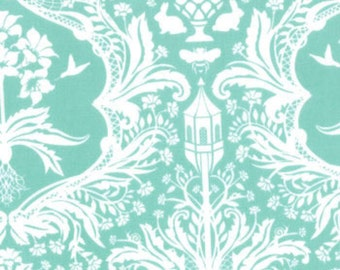 Flora by Lauren and Jessi Jung for Moda Fabric ~25051 Aqua---by the half yard
