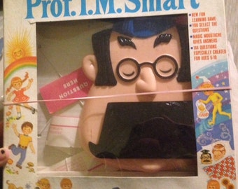 Vintage Prof. I.M. Smart Game Question and Answer Trivia Game Professor