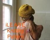 HAT PATTERN, Easy Knitting Pattern, slouchy hat, beanie hat, DIY pattern,