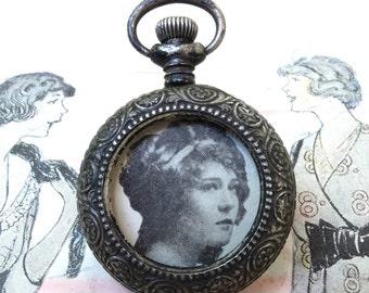 Vintage Sterling Empty Pocket Watch Case Part Supply