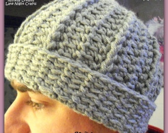 Instant Etsy Download PATTERN - Unisex Watchman Beanie Chunky Weight Crochet Pattern-So Cozy-Awesome Texture-Brave the Cold in Style