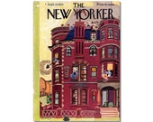 New Yorker Magazine Original COVER ONLY artist Arnold Hall 9-29-34 House Cleaning