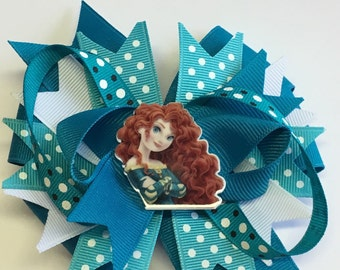 Boutique Brave inspired Merida Princess Hair Bow Clip