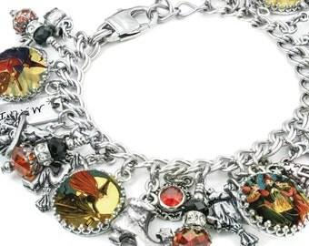 Wiccan Silver Charm Bracelet Wicca Jewelry The Wicked Witch