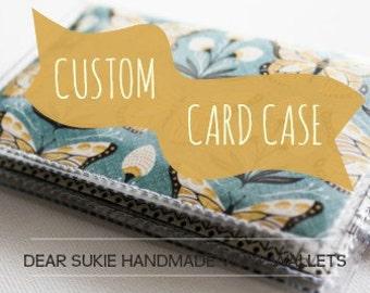 Custom Handmade Vinyl Card Holder, snap wallet, custom wallet, card case, pocket wallet, small, vinyl, paper, cute wallet, unique
