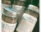 Kiss Ready Remineralizing ORGANIC Tooth Powder with Ayurvedic Herbs and Essential Oils