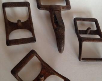 Vintage Metal Destash Steampunk Altered Art Buckles Hook Lot Salvage