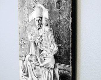 Caterpillar Limited Edition Canvas Giclee Print 10x13 Alice In Wonderland Art Hookah