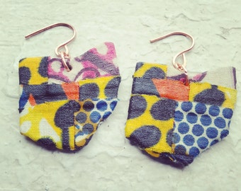 Colorful Patchwork Ohio Earrings