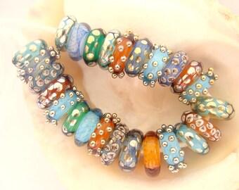 25 Handmade Lampwork Beads