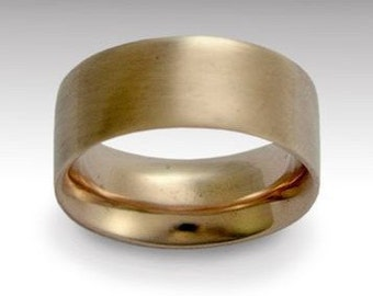 14K yellow gold band, unisex gold band, wedding ring, wide gold band, shiny ring, simple band,  traditional gold band - Perfect day RG1080