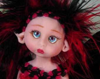 Fairy Fairies Fae pixie elf OOAK Fantasy Art Doll By Lori Schroeder 144CH