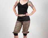 Leopard Print Summer Cropped Trousers, Capris, Rockabilly, custom size