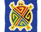 Adorable Yellow Turtle Mola Mini  - Kuna Indian Reverse Applique