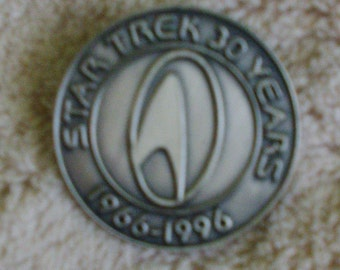 Star Trek - 30 Years 1966 - 1996 Pewter Pin with Clutch