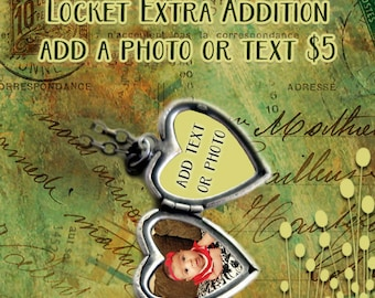 Photo edit or quote insert fee for inside of locket