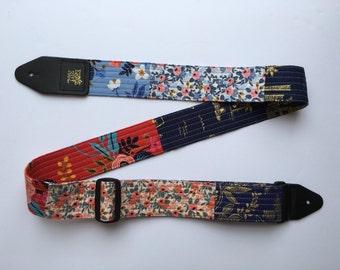 modern patchwork guitar strap