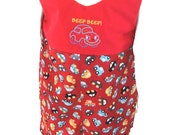 Boys Romper Outfit in Car Fabric size 3T
