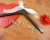 Bridal Hanger With Name Bride Hangers Bridal Accessories Wedding Dress Hangers Personalized Wire Hangers