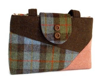 Harris Tweed - One-of-a-Kind - Purse - Color Block -Patchwork Bag