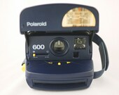 Navy Blue Polaroid OneStep Express Camera (Battery Tested)