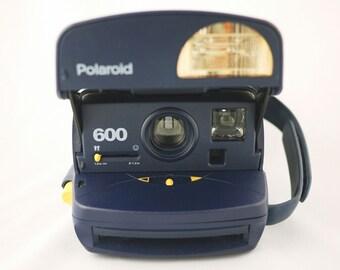 Navy Blue Polaroid OneStep Express Camera (Battery Tested)