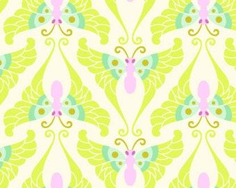 YARDS or HALF YARDS - Papillon Lime by Heather Bailey for FreeSpirit