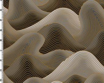 SALE Kona Bay Dragon Moon Waves by Nobu Fujiyama black and gold DRAG-12-BLACK