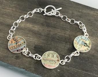 Personalized Mom Bracelets Map Charm Bracelet Trio