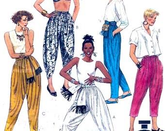 90s Harem pants loose fitting womens hammer pant vintage Yoga summer sewing pattern McCalls 4916 Sz 14 to 16 UNCUT