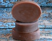 Oval Goat's Milk Soap, Chocolate Colored Goat's Milk Soap, Oval Soap, Bar of Soap, Homemade Soap, Made in Montana Soap
