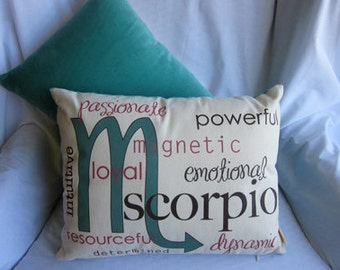 Scorpio Zodiac Pillow