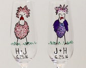 2 CUSTOM CHICKEN FLUTES