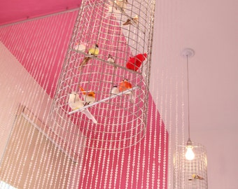 tall & skinny birdcage chandelier