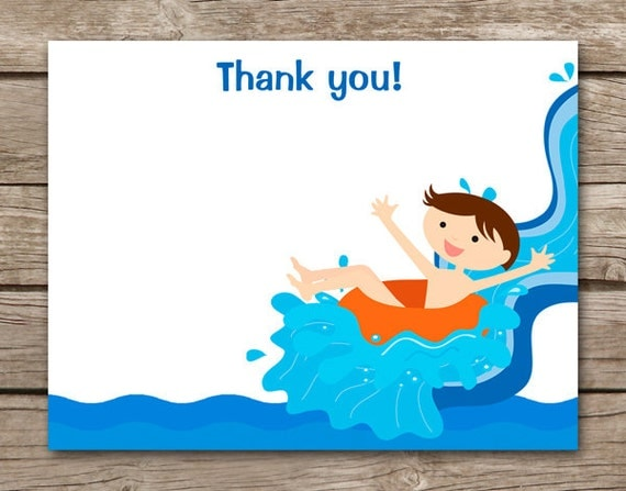 Waterpark Thank You Card