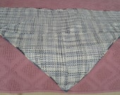 RESERVED FOR SANDI Handwoven triangular shawl, made on triangle frame loom, custom made, variegated blue acrylic