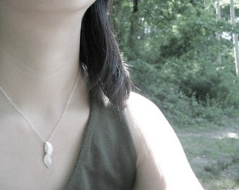 Sterling Sliver Handmade Elm Leaves necklace