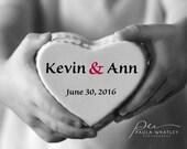 personalized art, personalized heart, custom romantic art, custom wedding photo, wedding gift, wedding art, Valentine's Day gift, love art