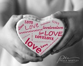 Love print, love art, valentines art, valentines print, valentines gift, wedding gift, Typography print, motivational print, black white art