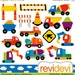 50% OFF SALE Digital clipart.. Construction Vehicle 07370.. Commercial use for personalized party printable kit, printed cards, web design