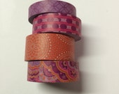 Washi tape 4 pack 10 yards each Pink Purple Orange Mix #1