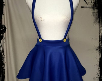 Mario Cosplay  Circle Skirt with Suspenders, Size XXL - Ready to Ship - Costume Nintendo Comic Con Halloween