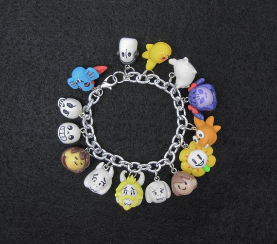 Design Your Own Custom Bangle Charm Bracelet Pick Your Charms: Custom Choose Your Characters Undertale Video Game Charm