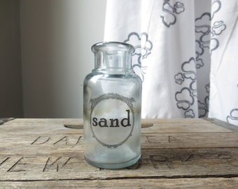 Beach House - Bud Vase - Sand Print - Sea Decor - Coastal Home - Beach Cottage - Modern Nautical Vase - Housewarming Gift - Ocean Themed